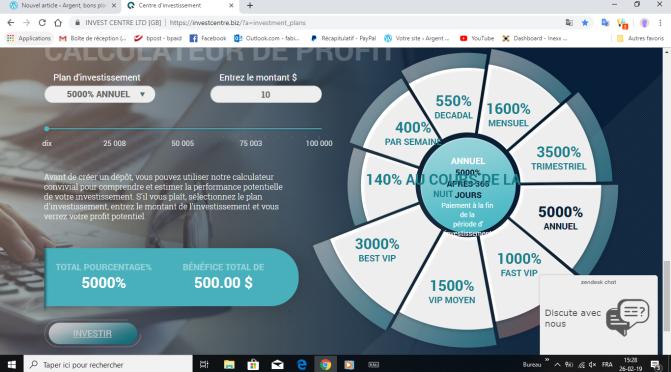 INVESTCENTER-LTD, investissement en ligne.